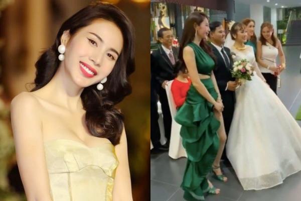 """Diện outfit như """"đi fashion week"""" đến dự đám cưới, Thủy Tiên chiếm hết spotlight của cô dâu nhưng bất ngờ được CĐM khen ngợi vì lý do vô cùng đáng yêu"""