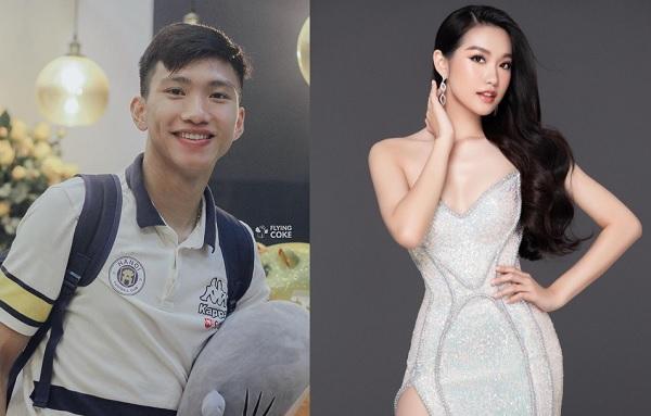 Nếu Tiến Dũng yêu mẫu Tây xinh đẹp, Văn Hậu cũng không kém cạnh khi tán tỉnh thí sinh thi Hoa hậu Việt Nam