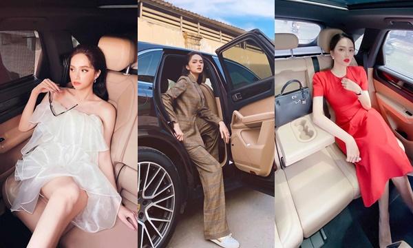 Khéo nịnh người yêu như Hương Giang, kể từ ngày có xế hộp, chăm chỉ sống ảo, diện đủ các kiểu thời trang