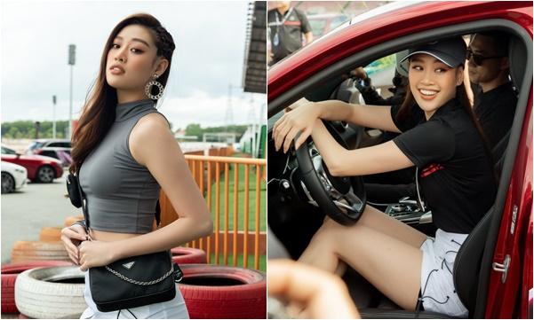 Chán điệu đà, hoa hậu Khánh Vân mang...đồ thể thao đi dự sự kiện