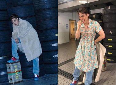 """Nhìn ảnh Kai (EXO) """"mặc váy"""", fan đồng loạt kêu gọi Gucci tha cho đại sứ toàn cầu"""