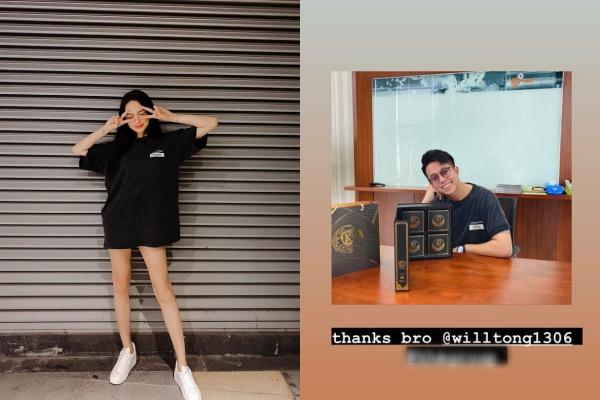 Hẹn hò đã lâu, nhưng đây là lần đầu tiên Hương Giang công khai diện áo đôi với bạn trai Matt Liu khiến fans phấn khích