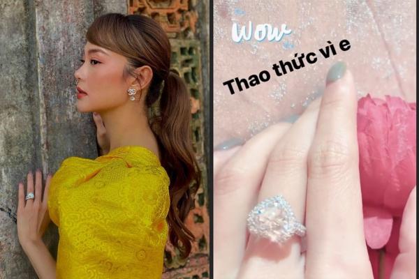 """Minh Hằng khoe nhan sắc đỉnh cao trong bộ hình mới, nhưng chiếc nhẫn kim cương """"siêu to khổng lồ"""" trên tay mới gây chú ý"""