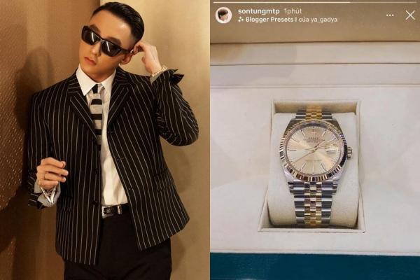 """Kỉ niệm 8 năm debut, Chủ tịch Sơn Tùng MTP chơi lớn """"tậu"""" thêm chiếc đồng hồ gần nửa tỷ đồng"""