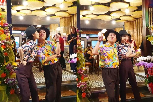 Diện đồ đôi ngọt ngào, vợ chồng Trường Giang - Nhã Phương trở thành tâm điểm chú ý vì quá đáng yêu