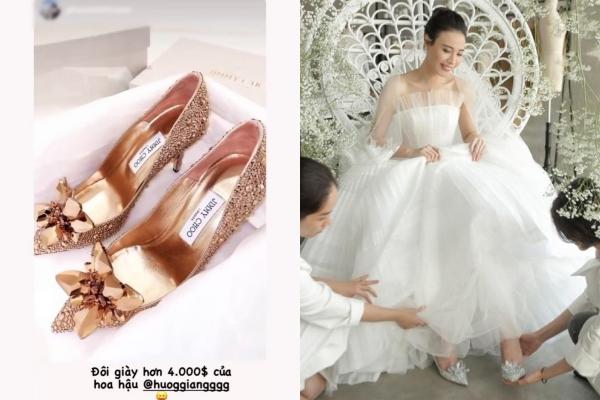 Chơi lớn tậu giày cưới gần 100 triệu, phải chăng Hương Giang đang ngầm thừa nhận sắp lên xe hoa