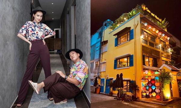 Lên đồ hoa mừng khai trương nhà hàng mới, Trường Giang đi tổ ong 120 lỗ nhường spotlight cho Nhã Phương