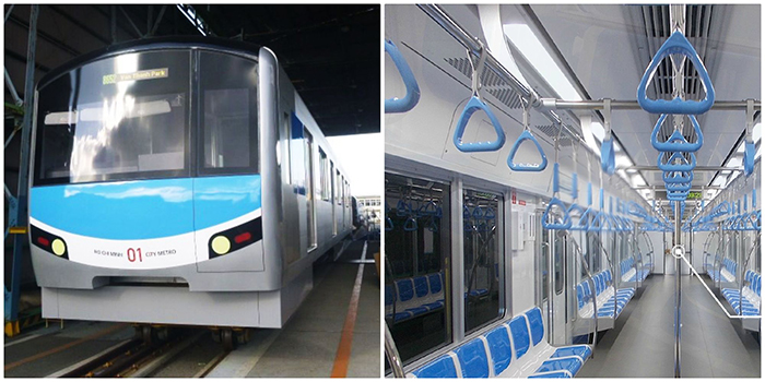 Zoom cận cảnh Đoàn tàu Metro đầu tiên vừa cập bến Sài Gòn