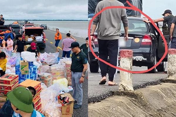 """Đi ô tô bóng bẩy nhưng lại tranh thủ xuống """"hôi"""" quà từ thiện lũ lụt miền Trung, người đàn ông bị dân mạng chỉ trích gay gắt"""