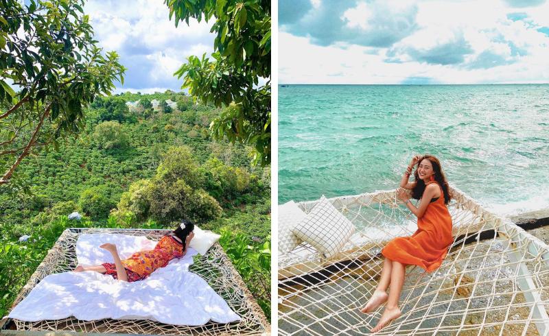 Bali có thể chưa được đi nhưng check in kiểu nằm giường lộ thiên chill như Bali thì phải biết nhé