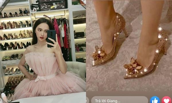 """""""Có duyên"""" với giày hiệu như Hương Giang: Vừa chi 100 triệu tậu giày mới lại được tặng thêm đôi nữa"""