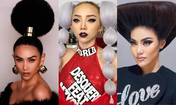 """Không phải những mỹ nhân này chắc chẳng ai dám để mấy kiểu tóc lạ đời kiểu  """"cây bon sai"""""""