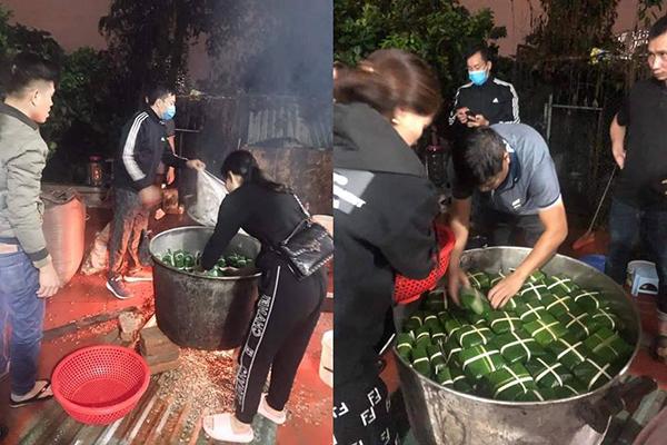 Người dân La Phù nhộn nhịp gói bánh chưng tiếp tế cho đồng bào vùng lũ: Khúc ruột miền Trung ơi thương lắm!