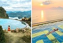 Dù view núi hay view biển đây chính là top bể bơi vô cực đẹp nhất Việt Nam, vừa chill vừa ngắm cảnh đã mắt