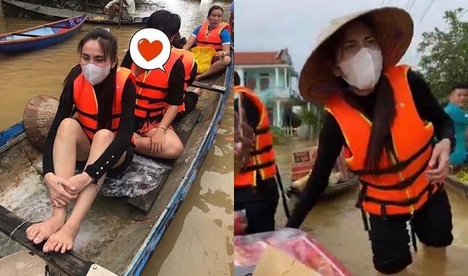 """Thủy Tiên tiếp tục bị công kích, lần này bị nữ MC mỉa mai: """"Đi từ thiện mà đeo túi đồ hiệu 50 triệu"""""""