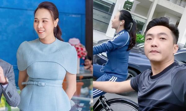 """Đàm Thu Trang diện sai kiểu đầm lộ vóc dáng """"mũm mĩm"""", Cường Đô La liền tranh thủ nịnh vợ"""