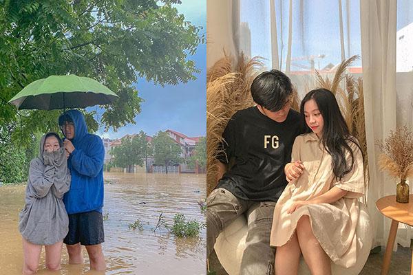 Lội nước 5km để mạng đồ ăn nước uống cho bạn gái vì không liên lạc được, chàng trai Huế được dân tình khen hết lời