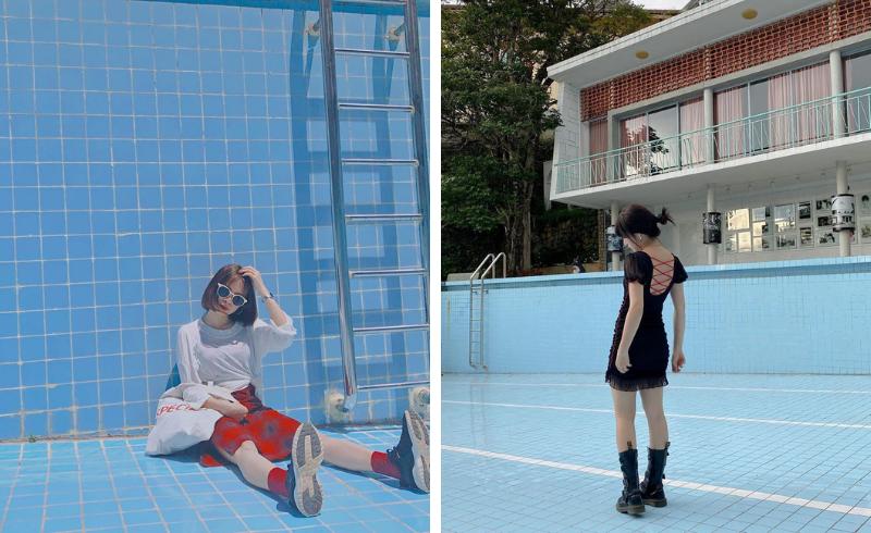 Chỉ 20k có ngay những bức hình đậm chất điện ảnh ở bể bơi cạn nước ngay giữa trung tâm Đà Lạt