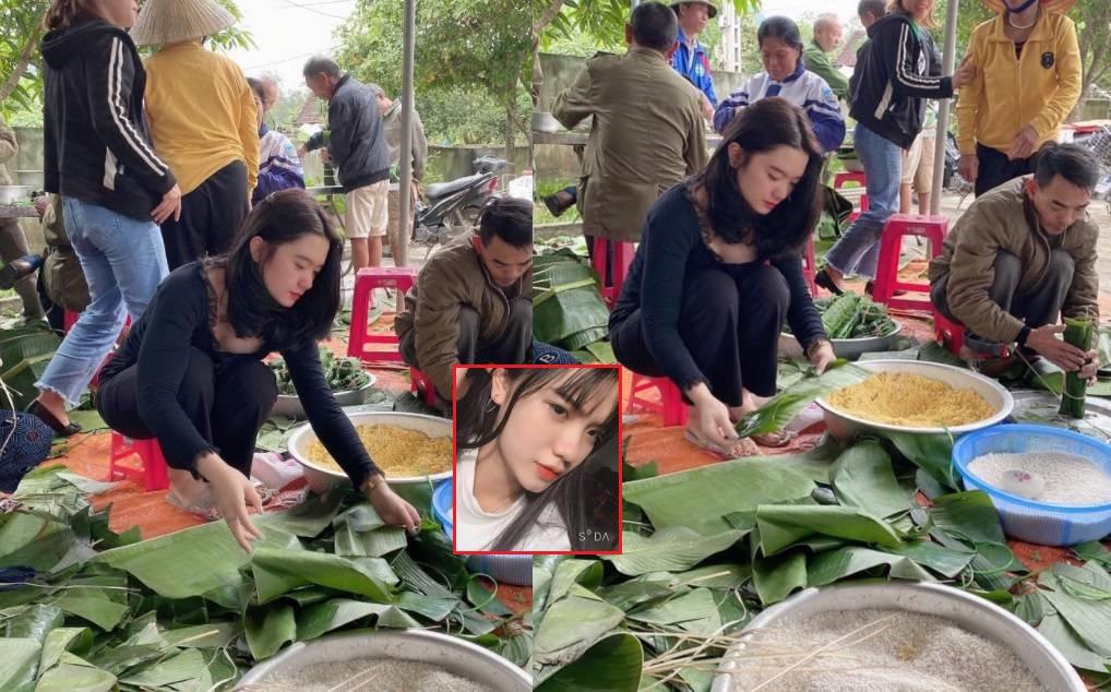 """Gói bánh chưng ủng hộ đồng bào miền Trung, cô gái đâu ngờ lại gây """"lụt"""" trái tim của bao chàng"""