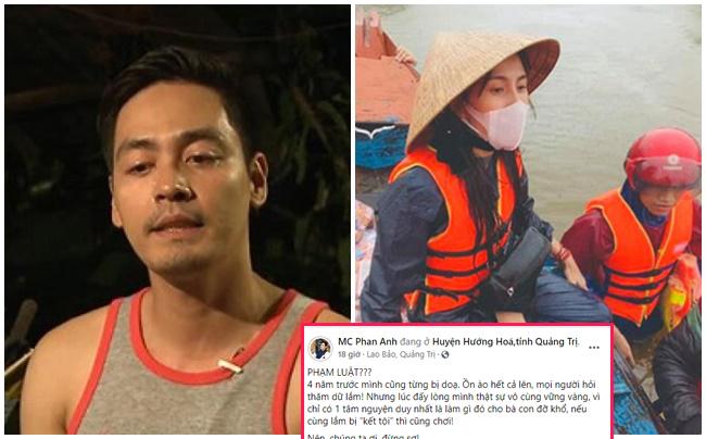 MC Phan Anh chỉ ra điểm trùng hợp giữa Thủy Tiên và mình 4 năm trước khi  làm từ thiện giúp miền Trung