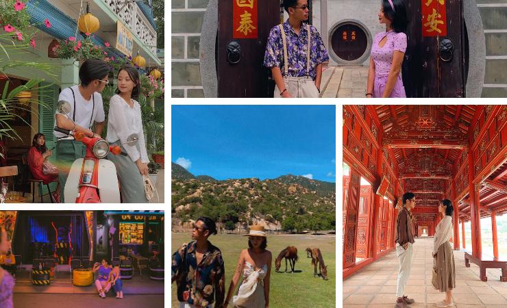 Mặc đồ đôi đi du lịch xưa rồi, phải mix đồ nghệ như Huy Khang – Băng Dung, đi vi vu mà như đi catwalk