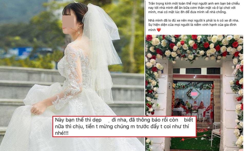 """Cô dâu """"giận tím người"""" vì trịnh trọng đăng status mời tất cả bạn bè đến dự đám cưới nhưng cuối cùng chỉ có 3 người"""