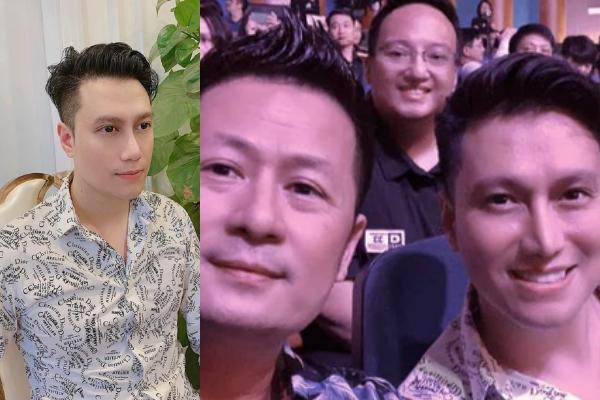 Chung khung hình với Bằng Kiều nhưng Việt Anh chiếm hết spotlight vì mũi lệch vẹo hậu thẩm mỹ