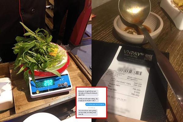Giải thích với thái độ thiếu thiện chí vụ phạt khách 200k vì thừa 2.9 lạng rau, nhà hàng buffet ở Đà Nẵng bị dân mạng vote đóng cửa