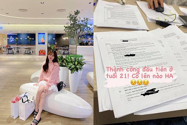 """Bạn gái Quang Hải khoe mua được nhà ở tuổi 21 khiến dân tình tò mò: """"Chỉ làm gia sư mà mua được nhà tiền tỉ"""""""