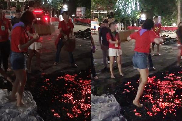 Xôn xao hình ảnh cô gái đi chân đất bước qua đống than đỏ vì bị bạn bè thử thách: Có cần phải mạo hiểm để nhận về vài tiếng vỗ tay