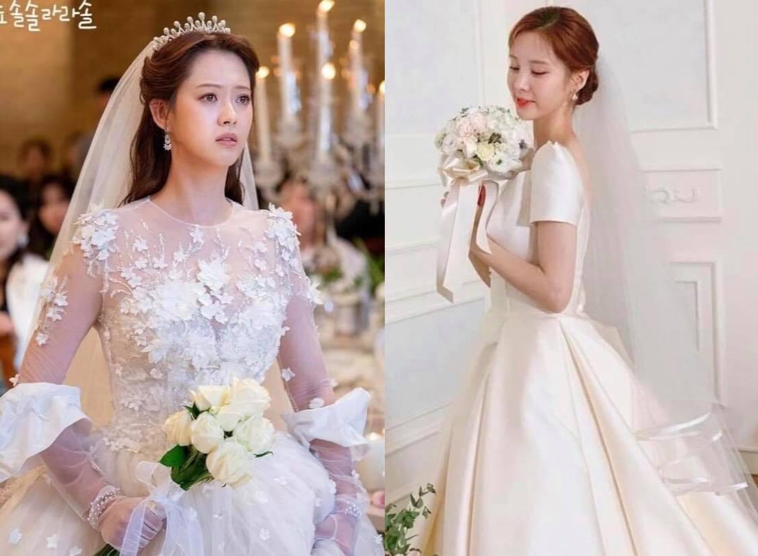 Nhìn 3 bộ váy cưới này của sao Hàn đảm bảo chị em nào cũng muốn cưới ngay lập tức