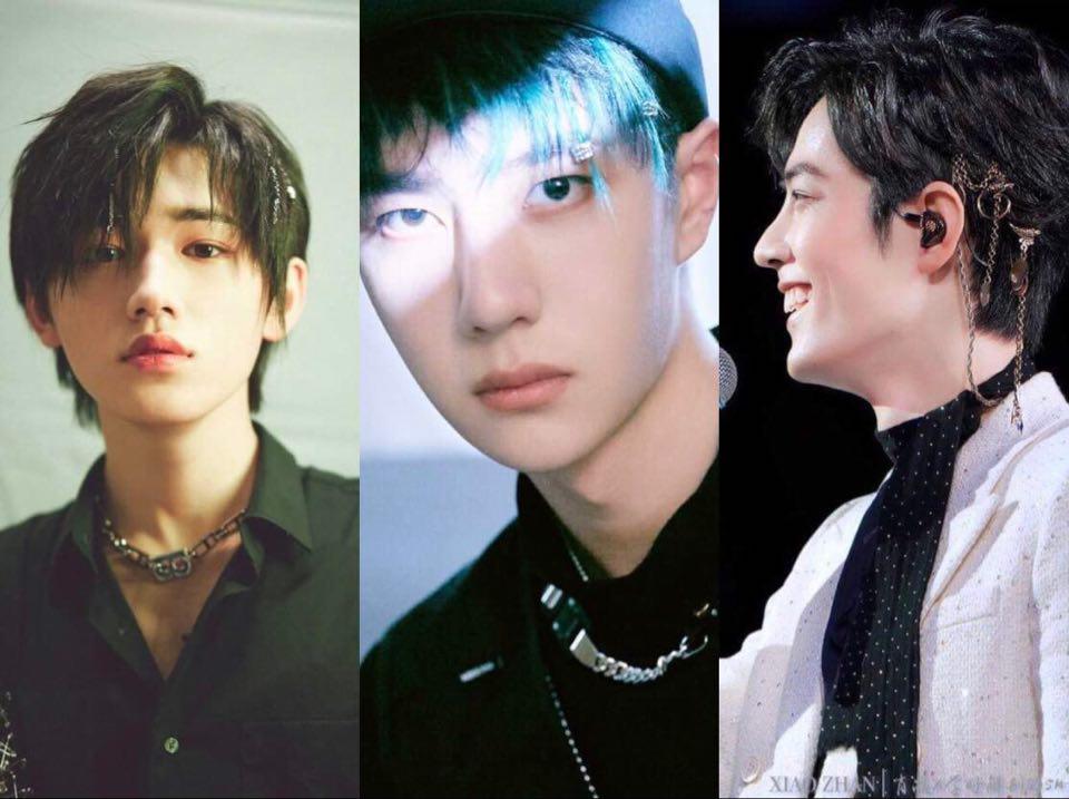 Kiểu tóc gắn khuyên tai hot hit của idol Trung bị chê bai là đồ cổ từ 10 năm trước
