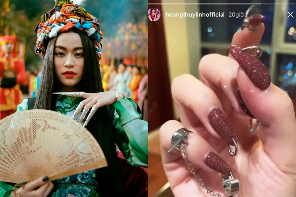 """Hoàng Thùy Linh khoe bộ móng """"chất chơi"""", netizen hài hước: """"Xỏ khuyên, đeo lỗ cho móng tay thì ai chơi lại chị"""""""