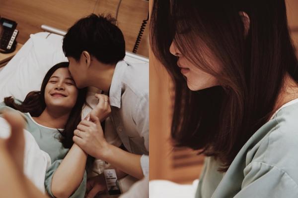 """Loạt ảnh xúc động của Đông Nhi và Ông Cao Thắng khi chào đón con gái nhỏ ra đời, CĐM cảm thán: """"Đông Nhi đau đẻ mà cũng xinh thế này"""""""