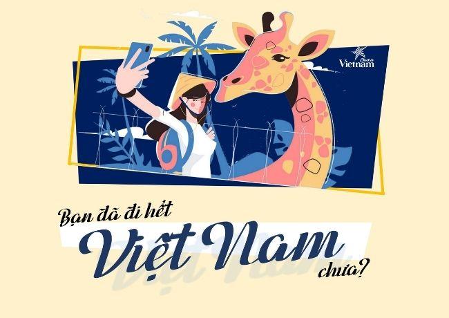 """Minigame """"Bạn đã đi hết Việt Nam chưa?"""": Di khắp bản đồ - Đi khắp Việt Nam"""