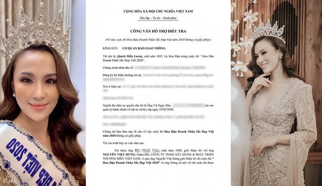 """Nhan sắc mặn mà ở tuổi 35 của """"Hoa hậu"""" doanh nhân tố cáo BTC cuộc thi nhan sắc lừa đảo"""