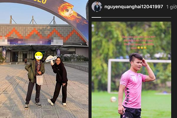 """Chụp ảnh bên trai lạ, Nhật Lê không quên """"cà khịa"""" chuyện tình cũ - Quang Hải bị cắm sừng?"""